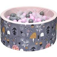 iMex 3430 Suchý bazén s míčky Mystery forest Pink - Stan