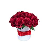 Flower box LUXURY mini from red roses 15 cm - Gift Box