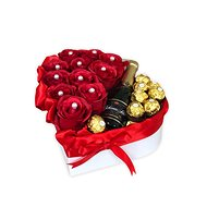 Gift box in the shape of a heart red medium 27x27 cm - Gift Box