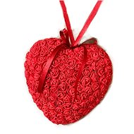 Heart of roses in red 18 cm - Decoration