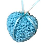 Heart of roses in blue 18 cm - Decoration