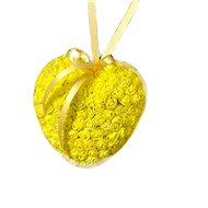 Srdce z růžiček ve žluté barvě 18 cm - Dekorace