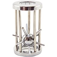 Teddies Puzzle hedgehog in a metal chrome cage