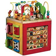 Wooden Activity Cube - Discover Farm Animals - Wooden Toy