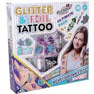 Wiky Tattoo with Glitter - Beauty Set