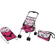 Hauck Cestovní set růžový, puntíky - Doplněk pro panenky
