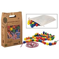 Jouéco wooden stringing beads 85pcs - Wooden Toy