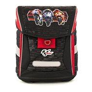 Moto GP červeno-černá, fidlock - Školní batoh