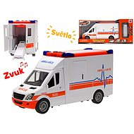 Auto ambulance 27cm na setrvačník se světlem a zvukem a doplňky - Auto