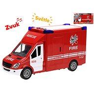 Auto hasiči 27cm na setrvačník se světlem a zvukem - Auto