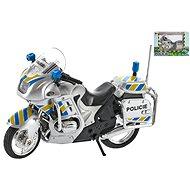 Motorka policejní 12cm kov na volný chod - Dětská elektrická motorka