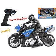 R/C motorka s jezdcem 26cm 1:10, na baterie 2.4GHz - Dětská elektrická motorka