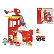 Set of wooden firefighters 22x12,5x22cm
