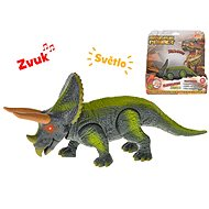 Triceratops 23cm for batteries with light - Toy