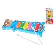 Xylofon medvídek 28cm 2barvy - Hudební hračka