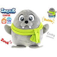 Olly plush ice cream 26cm with a Czech-speaking scarf on batteries with light and sound 12m + in a b