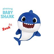 Baby Shark Spandex 27cm plush for batteries with a sound of blue 0m + in a bag
