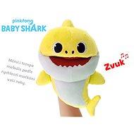 Baby Shark maňásek 23cm žlutý s volitelnou rychlostí hlasu - Plyšák