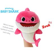 Baby Shark plush puppet 23cm pink for batteries with selectable voice speed 12m + in a bag