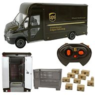 Iveco daily P80 1:16 RC with model of electric hand truck and box - RC Remote Control Car