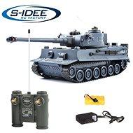 Bojující tank Tiger 1 šedý 2,4 GHz s infra dělem, bojující 1:28 - Tank na dálkové ovládání