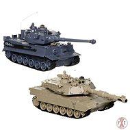 Sada bojujících tanků 2,4 GHz Abrams & German Tiger - Tank na dálkové ovládání