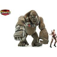 Jurassic Clash Gorila Cyber-Kong s Amazonkou 23 cm - Herní set