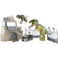 Jurassic Clash Pevnost s dinosaurem 35 cm
