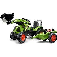 Šlapací traktor Šlapací traktor Claas Axos s nakladačem a vlečkou