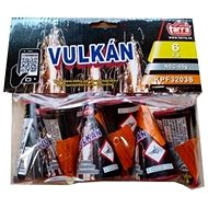 Volcano fountains - silver - 6 pcs - Fireworks
