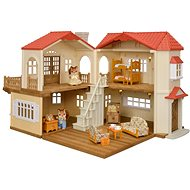 Sylvanian families Dárkový set - Patrový dům s červenou střechou C