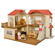 Sylvanian families Dárkový set - Patrový dům s červenou střechou A - Herní set