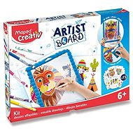 Creative Kit Maped Artist Board Set - Transparent Drawing Blackboard