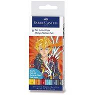Popisovače Faber-Castell Pitt Artist Pen Manga Shonen, 6 barev - Popisovač