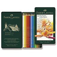 Pastelky Faber-Castell Polychromos v plechovové krabičce, 12 barev