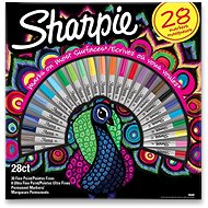Permanentní popisovače Sharpie Peacock, 28 barev - Popisovač