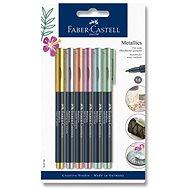 Popisovače Faber-Castell Metallics, 6 metalických barev - Popisovač