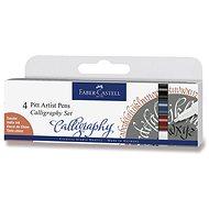 Popisovač Faber-Castell Pitt Artist Pen Caligraphy, 4 barvy - Popisovač