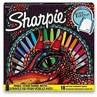 Permanentní popisovače Sharpie Fine, 18 barev, látkový vak - Popisovač