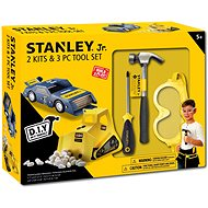 Stanley Jr. U004-K02-T03-SY The set contains a toy car, an excavator and 3 pieces of tools. - Set