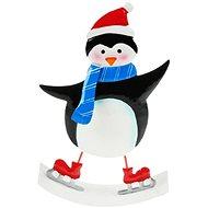 Tučňák plech 21cm - houpací - Vánoční ozdoby