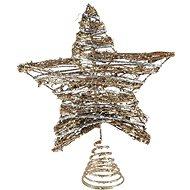Hvězda špice ratan zlatá vánoční 20x25,5cm R3852 - Vánoční ozdoby