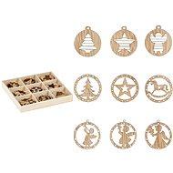 Wooden ornaments set mix 27pcs / 3x3cm XC2018900 - Christmas decorations