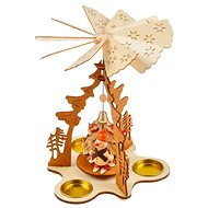 Wooden rotating candlestick 17,5x17,5x23,5cm BD-21596AN - Christmas decorations