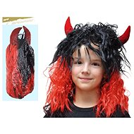 Devil wig with long horns ME071