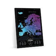 Europe Travel Black stírací mapa Evropa 40x60cm EN