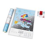 Europe Travel Silver stírací mapa Evropa 40x60cm EN