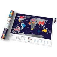 World Travel Holiday stírací mapa světa 60x80cm EN