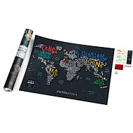 World Travel Letters stírací mapa světa 60x80cm EN