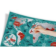 World Travel Marine stírací mapa světa 40x60cm EN